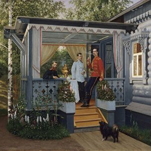 A day with Russian family. Russian Dacha